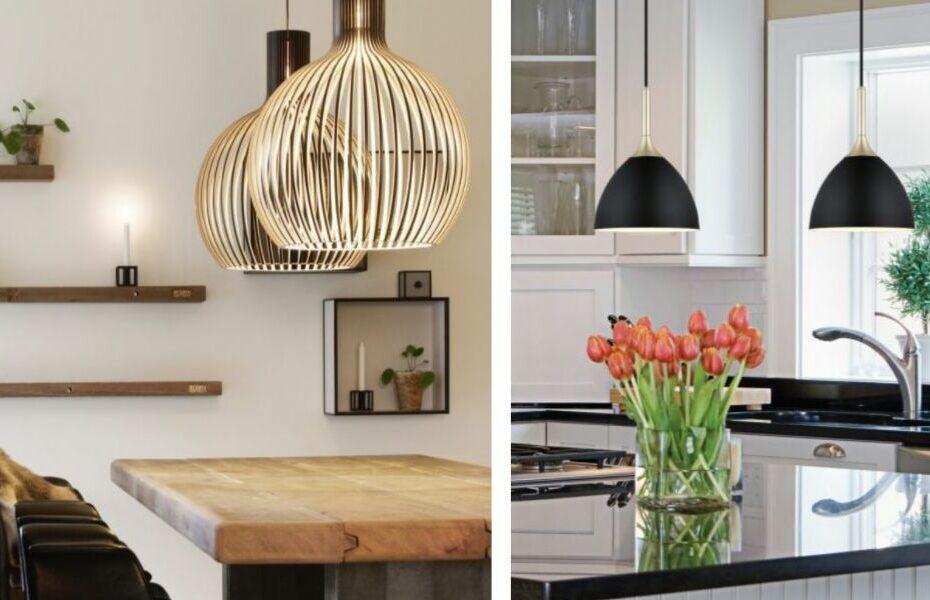 tips til lys og lamper over kjøkkenøy