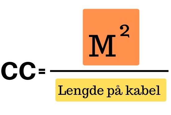 formel til beregning af varmekabelafstand cc