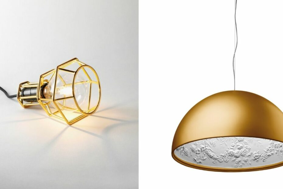 lamper i gull