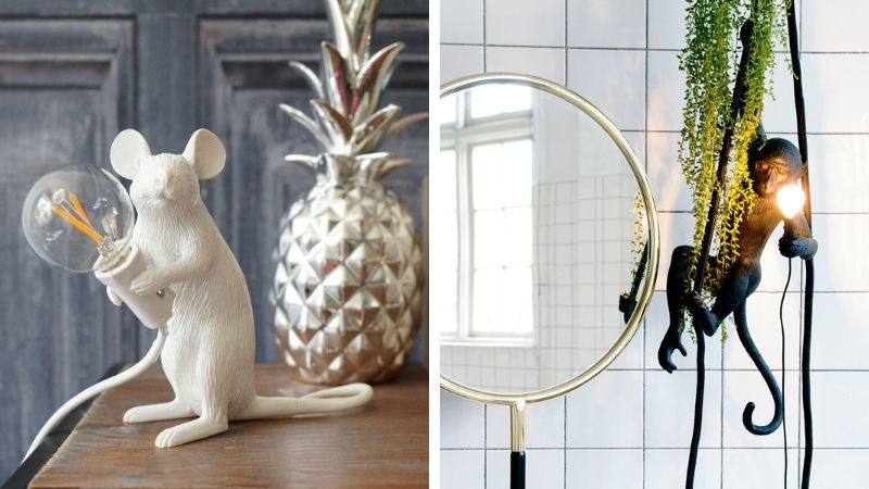 kjempefine dekor og figurlamper fra seletti