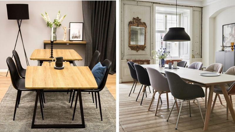 store og lange spisebord