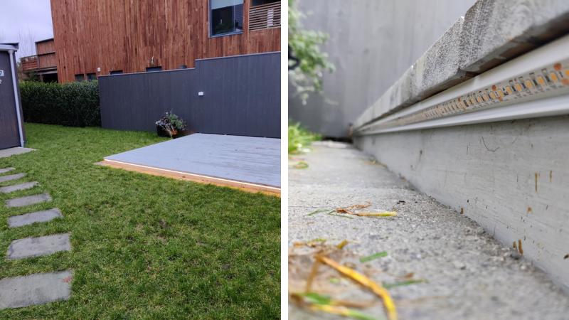 led strips terrasse utendørs